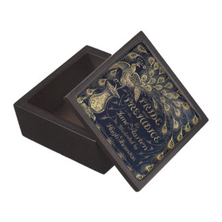 Antique Jane Austen Pride and Prejudice Peacock Jewelry Box