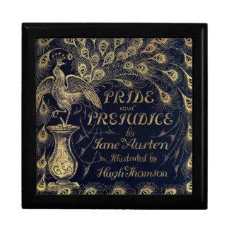 Antique Jane Austen Pride and Prejudice Peacock Keepsake Box