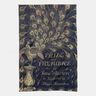 Antique Jane Austen Pride and Prejudice Peacock Kitchen Towels