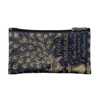 Antique Jane Austen Pride and Prejudice Peacock Makeup Bag