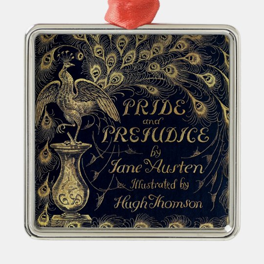 Antique Jane Austen Pride and Prejudice Peacock Metal Ornament