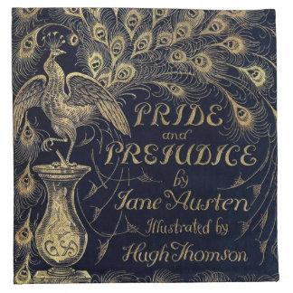 Antique Jane Austen Pride and Prejudice Peacock Napkin