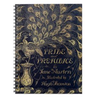 Antique Jane Austen Pride and Prejudice Peacock Notebook