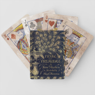 Antique Jane Austen Pride and Prejudice Peacock Bicycle Playing Cards