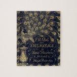 Antique Jane Austen Pride and Prejudice Peacock Jigsaw Puzzles