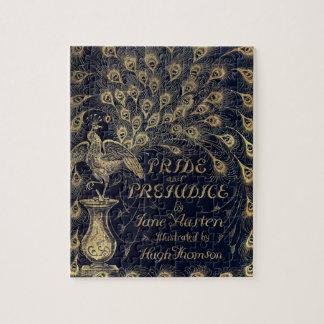 Antique Jane Austen Pride and Prejudice Peacock Jigsaw Puzzle