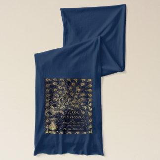 Antique Jane Austen Pride and Prejudice Peacock Scarf