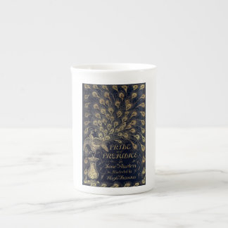 Antique Jane Austen Pride and Prejudice Peacock Tea Cup
