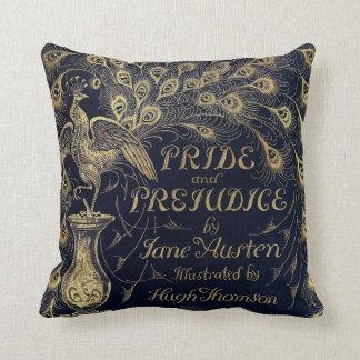 Antique Jane Austen Pride and Prejudice Peacock Throw Pillow