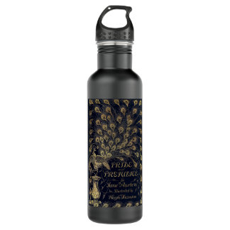 Antique Jane Austen Pride and Prejudice Peacock Water Bottle