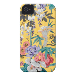 Antique Japanese Bird Flower Print iPhone 4 Case