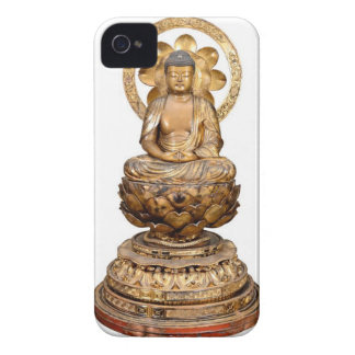 ANTIQUE JAPANESE BUDDHA WOODEN CARVING iPhone 4 COVER