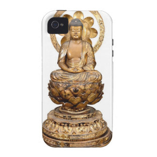 ANTIQUE JAPANESE BUDDHA WOODEN CARVING Case-Mate iPhone 4 COVER