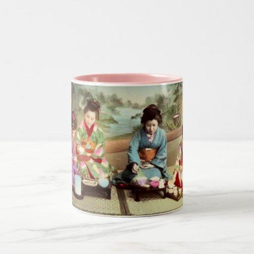 Antique Japanese Coffee Mug