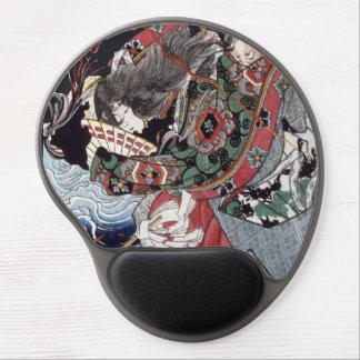 Antique Japanese Woodblock Ono no Komachi Gel Mouse Pad