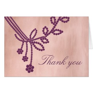 Antique Jewels Thank You Card card