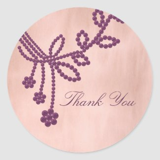 Antique Jewels Thank You Envelope Seal Stickers sticker