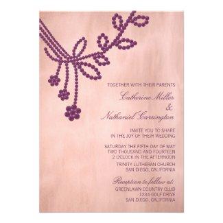 Antique Jewels Wedding Invitation, Purple