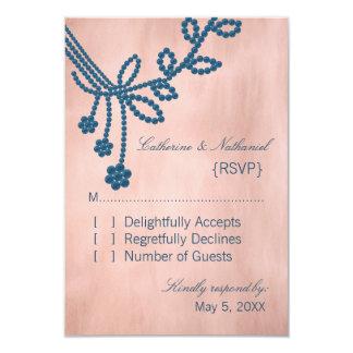 Antique Jewels Wedding Response Card, Royal Blue Invitations