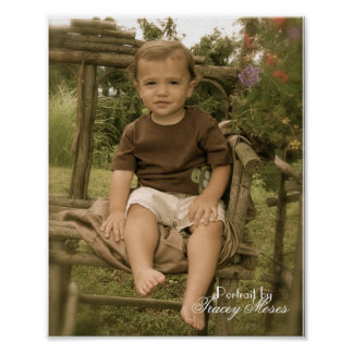 antique Josh Garden seat Poster