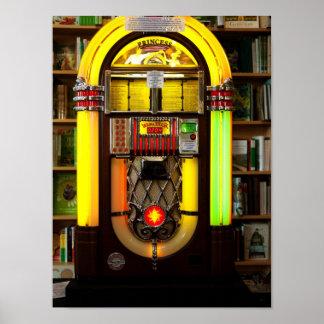 Antique Jukebox Poster