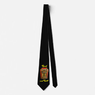 Antique Jukebox Retro on Black Neck Tie