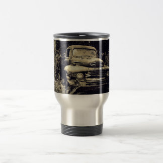 Antique Junker Truck in the Woods Mugs