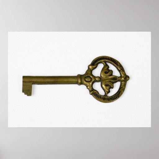 antique key poster