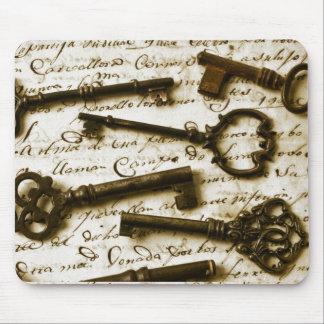Antique Keys Mouse Pad