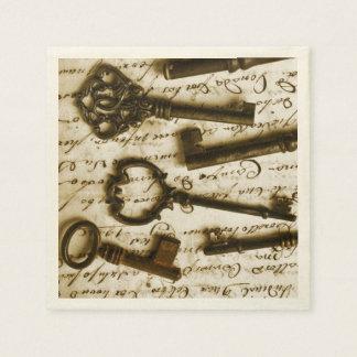 Antique Keys Paper Napkin