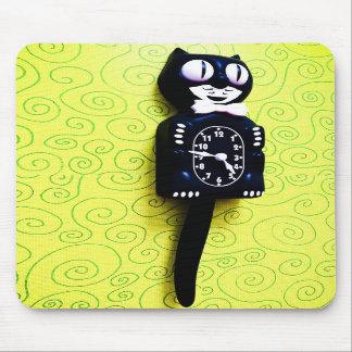 Antique kit Cat Clock Mousepad