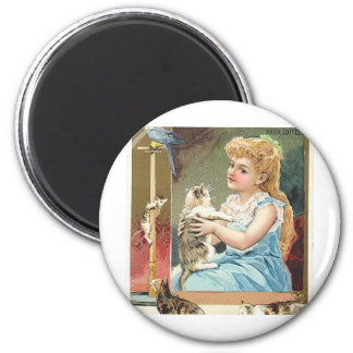 antique kitten magnet