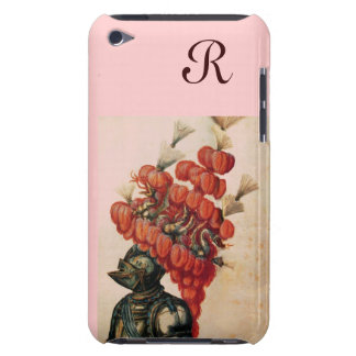 ANTIQUE KNIGHT HELMET ,DRAGONS AND RED FEATHERS iPod TOUCH COVER