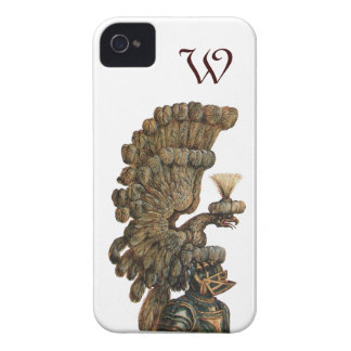 ANTIQUE KNIGHT HELMET WITH EAGLE monogram iPhone 4 Cover