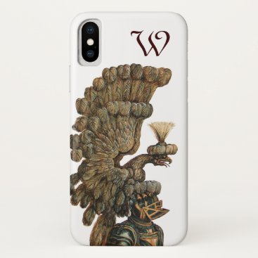 Beach Themed ANTIQUE KNIGHT HELMET WITH EAGLE monogram iPhone X Case