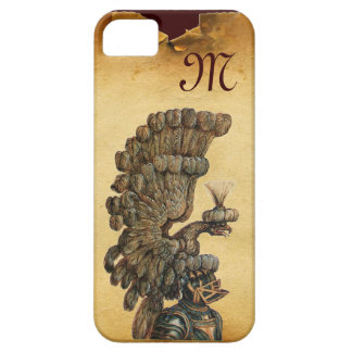 ANTIQUE KNIGHT HELMET WITH EAGLE Parchment iPhone 5 Case