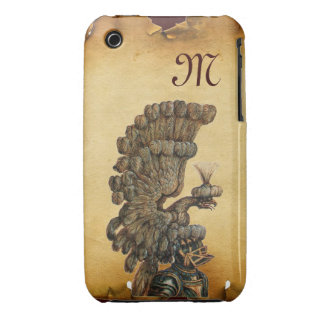 ANTIQUE KNIGHT HELMET WITH EAGLE Parchment iPhone 3 Covers