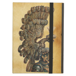 ANTIQUE KNIGHT HELMET WITH EAGLE Parchment Cover For iPad Air
