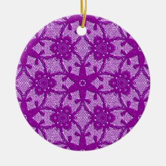 Antique lace - amethyst purple ceramic ornament
