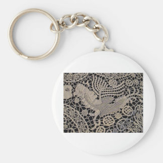 Antique Lace Bird Keychain
