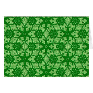 Antique lace - emerald and lime green stationery note card