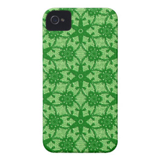 Antique lace - emerald and lime green Case-Mate iPhone 4 case