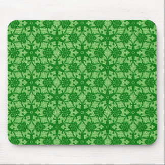 Antique lace - emerald and lime green mouse pad