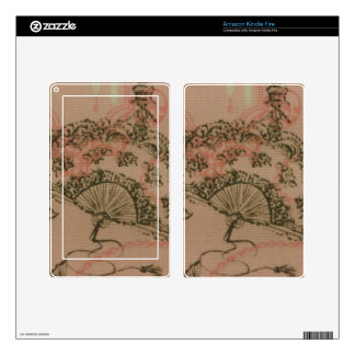 Antique Lace Fan Decal For Kindle Fire