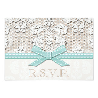 Antique Lace Look RSVP Wedding Response Cards