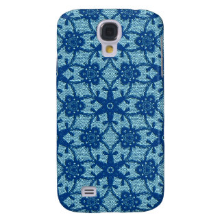 Antique lace - sapphire and pale blue galaxy s4 cover