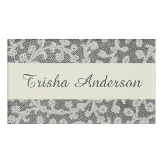 Antique Lace Soft Rustic Cards Name Tag