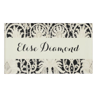 Antique Lace Vintage Card Traditional Contemporary Name Tag