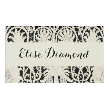 Professional Business Antique Lace Vintage Card Traditional Contemporary Name Tag