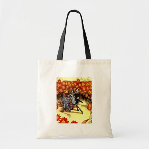 antique Land of  Oz Tin Woodman Scarecrow Canvas Bags